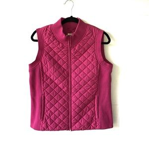 Women's Pendleton Pink Quilted Vest Size Medium